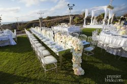 Beautiful table setting with big flowers